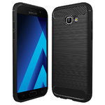 Flexi Carbon Fibre Tough Case for Samsung Galaxy A5 (2017) - Black